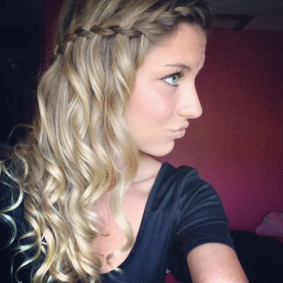 waterfall braid with curls | long hair. don't care. | pinterest