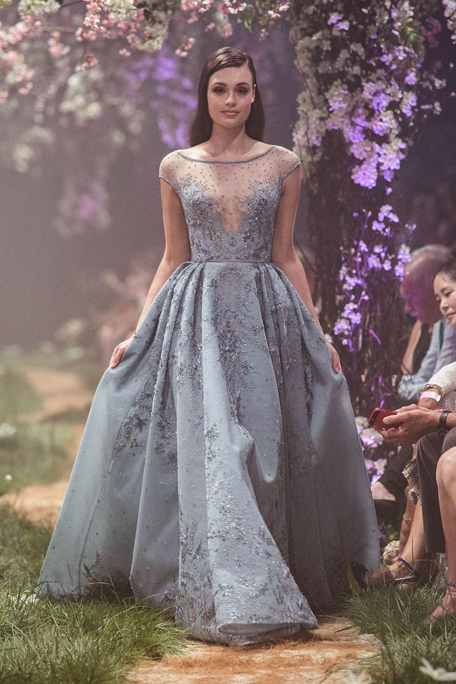 """e6a73190744 Cinderella-inspired sleeveless wedding gown with beautiful floral  embroidery details    """"Once Upon a Dream"""" – a fairytale collaboration  between Paolo ..."""