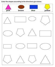 Shapes - math Worksheets - preschool Worksheets | Terapie ...