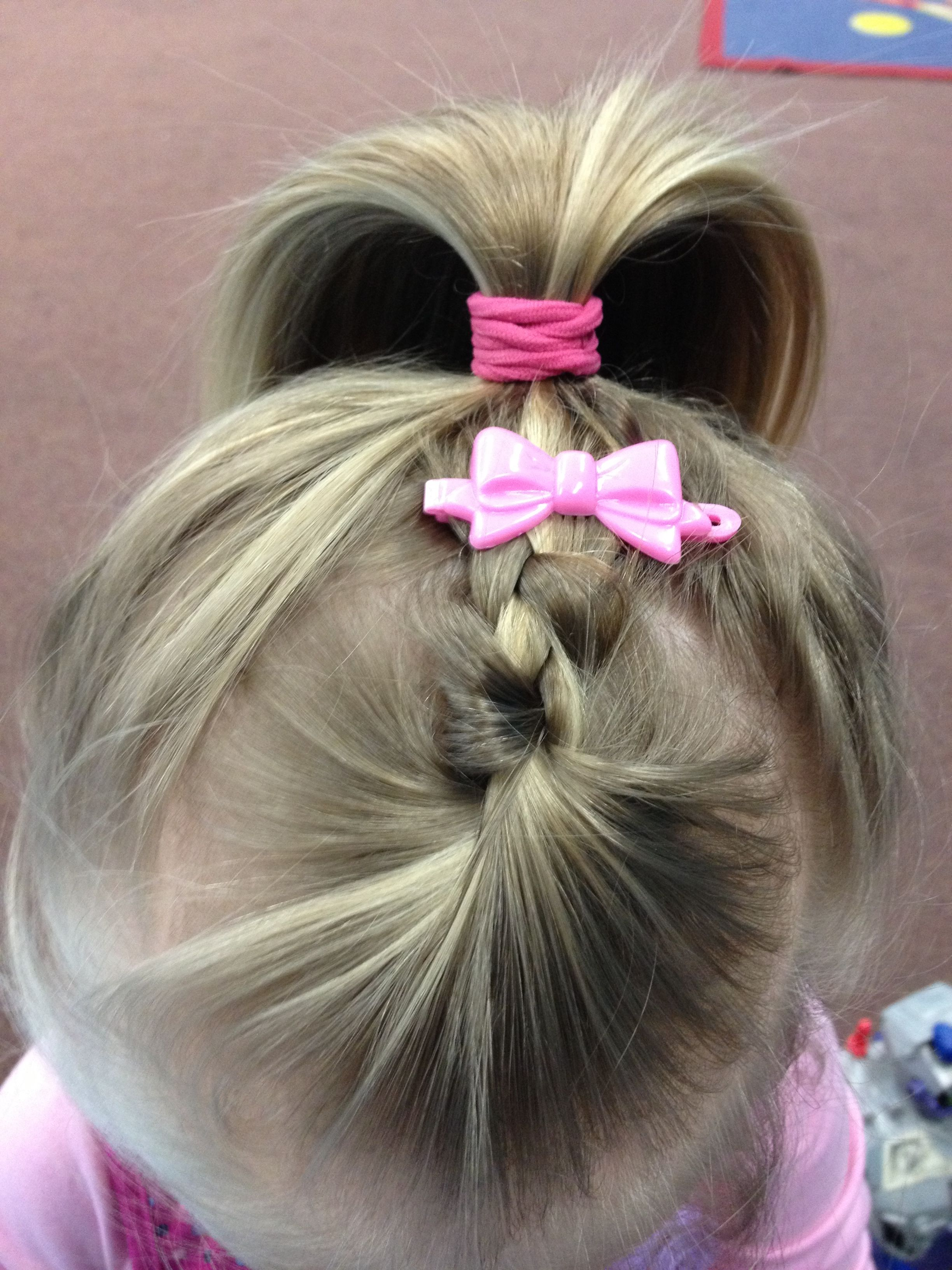 Little Girls Hairstyle When The Bangs Are Growing Out And Are Always In Her Eyes I Did This Today Growing Out Bangs Girl Hairstyles Fringe Hairstyles