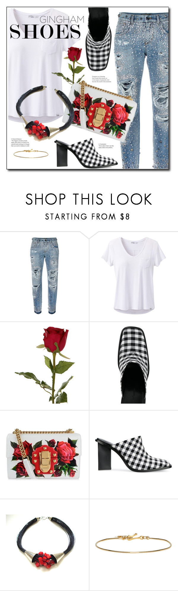 """Gingham Shoes"" by sheryl-lee ❤ liked on Polyvore featuring Dolce&Gabbana, prAna, Sia, Marques'Almeida and Isabel Marant"