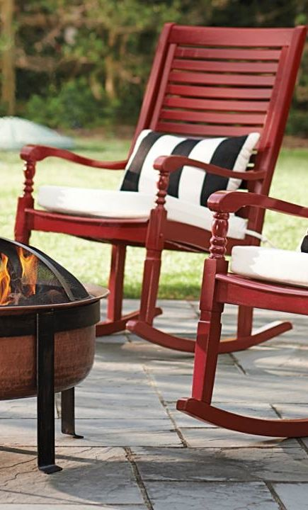 Settle into the generous proportions and comfortable contours of the  Nantucket outdoor rocking chair How to Paint and Care for Cracker Barrel Rockers   Rockers  . Rocking Chair Pads Outdoor. Home Design Ideas
