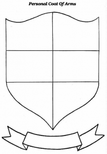 Coat Of Arms Could Be One The Art Projects Boys Can Fill In What Is Important To Them