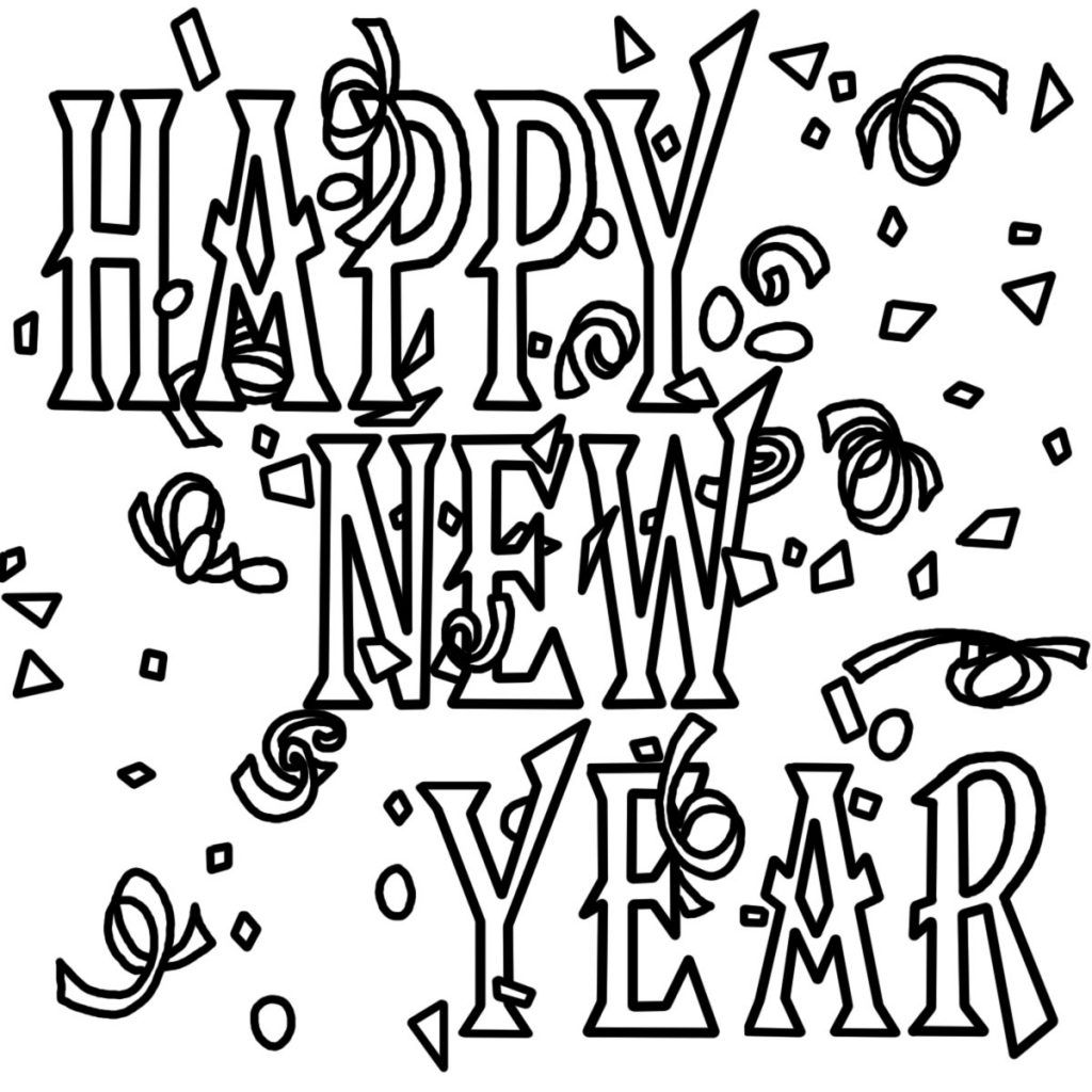 Free Printable New Years Coloring Pages For Kids New Year Coloring Pages Printable Coloring Pages Coloring Pages