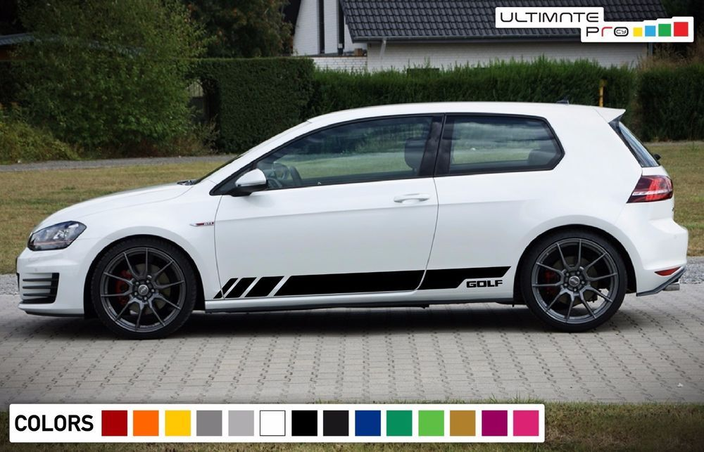 Sticker Decal Vinyl Side Door Stripes For Volkswagen Golf Mk7 Gti Spoiler Fender Ultimateprocy1 Volkswagen Golf Vw Cars Volkswagen