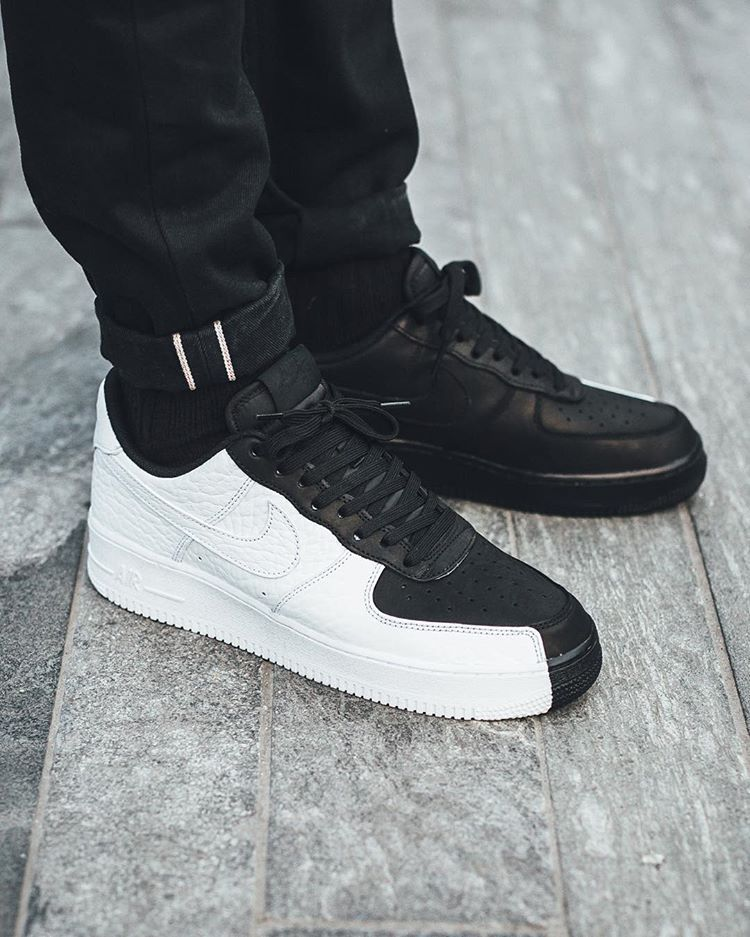 Nike Air Force 1 '07 Low Premium 'Split' BlackWhite | More