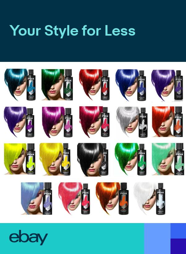 Arctic Fox Semi Permanent Hair Dye 4oz   Choose Colour Gallery