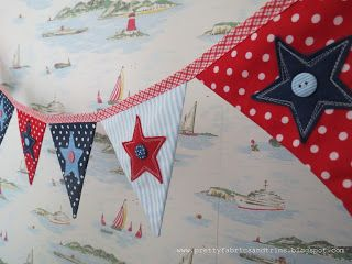 PrettyFabricsandTrims: Hang out the flags - Bunting Tutorial