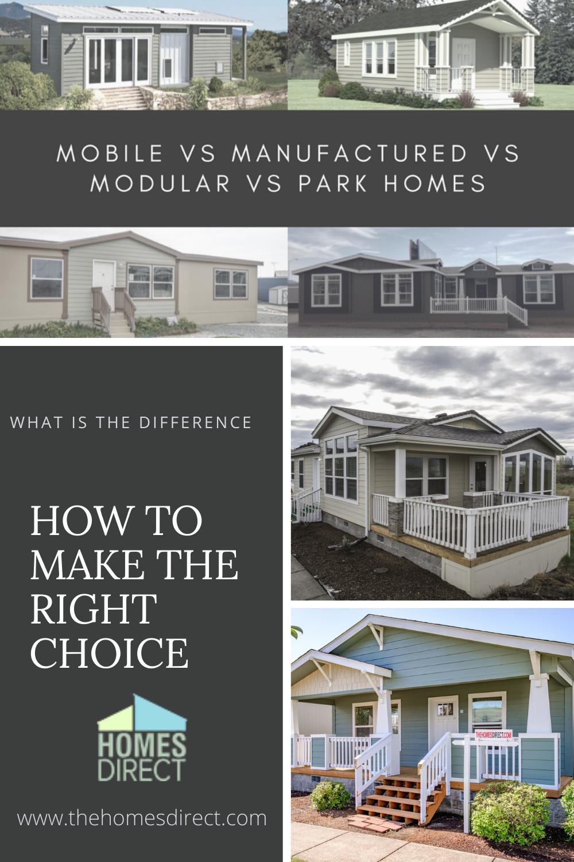 Mobile Vs Manufactured Vs Modular Vs Park Homes In 2020 Park Homes Park Model Homes Factory Built Homes
