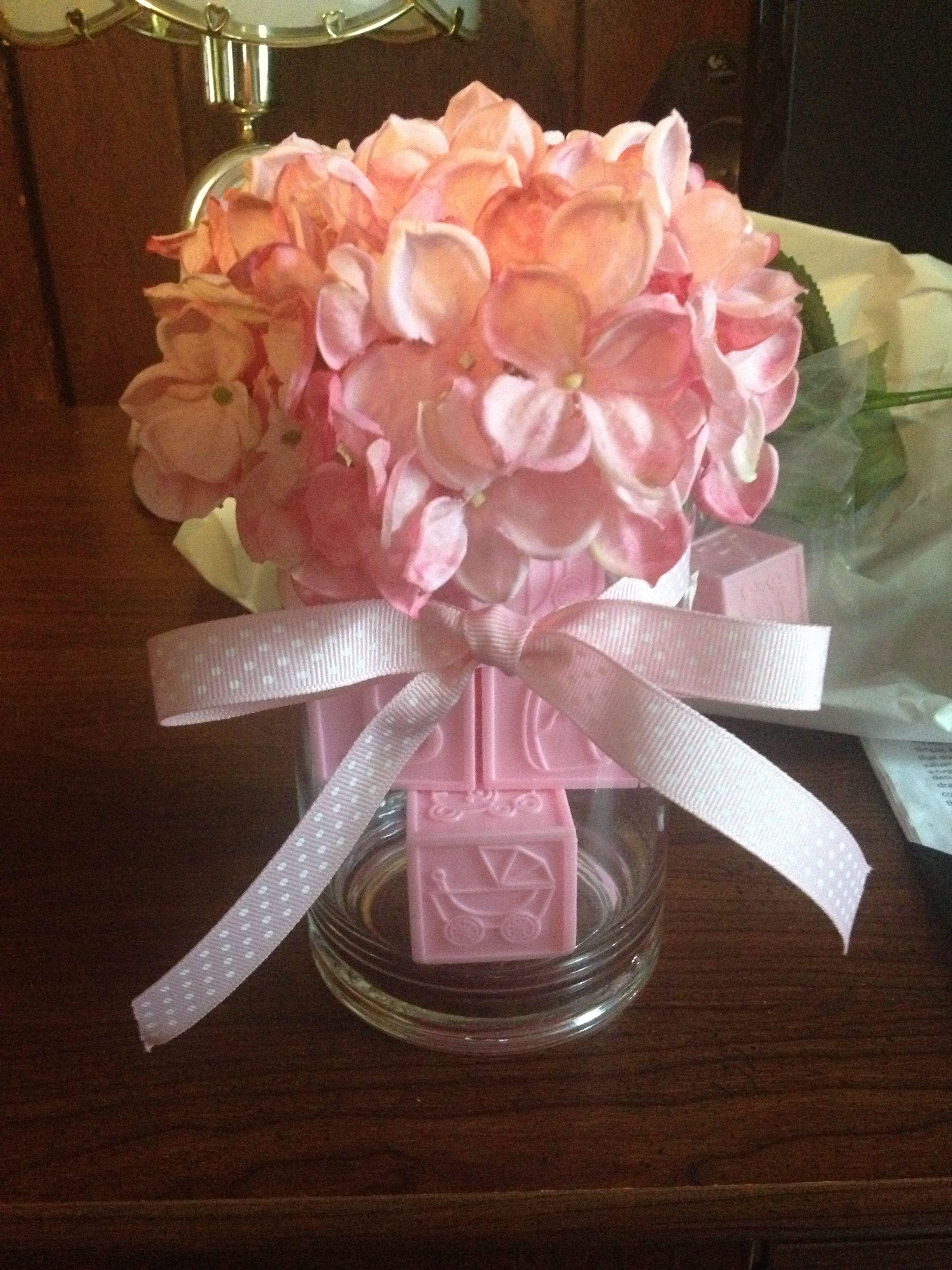 Girl baby shower decoration could use fake flowers cheaper could use fake flowers cheaper minus the baby blocks tacky izmirmasajfo