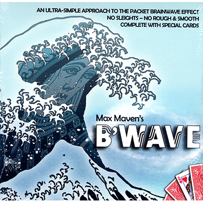 B Wave By Max Maven Gimmicks And Online Instructions Card Magic Trick Fun Mentalism Illusion Close Up Gimm Magic Illusions Cards On The Table Illusion Tricks