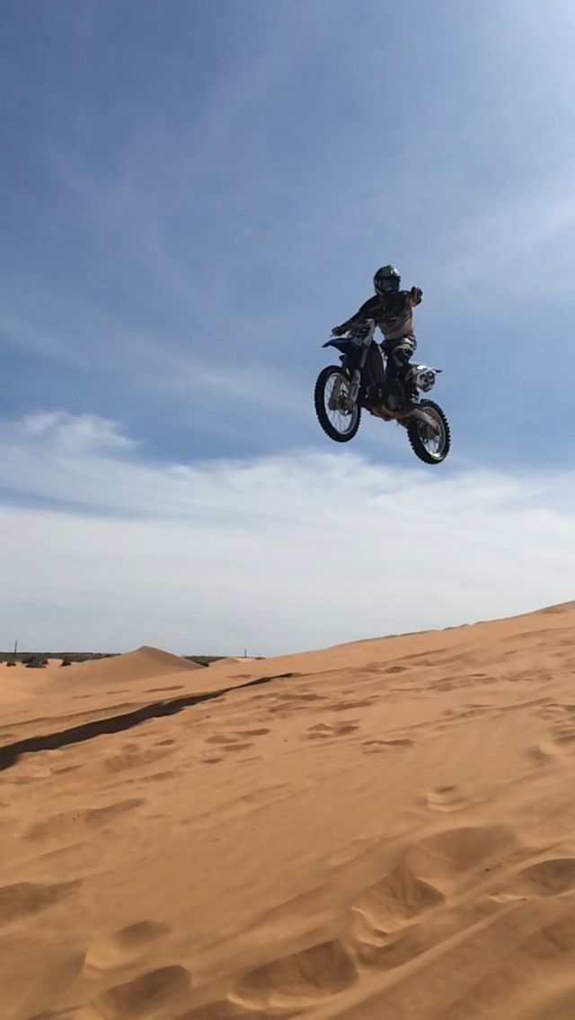 Jump day out in red sands