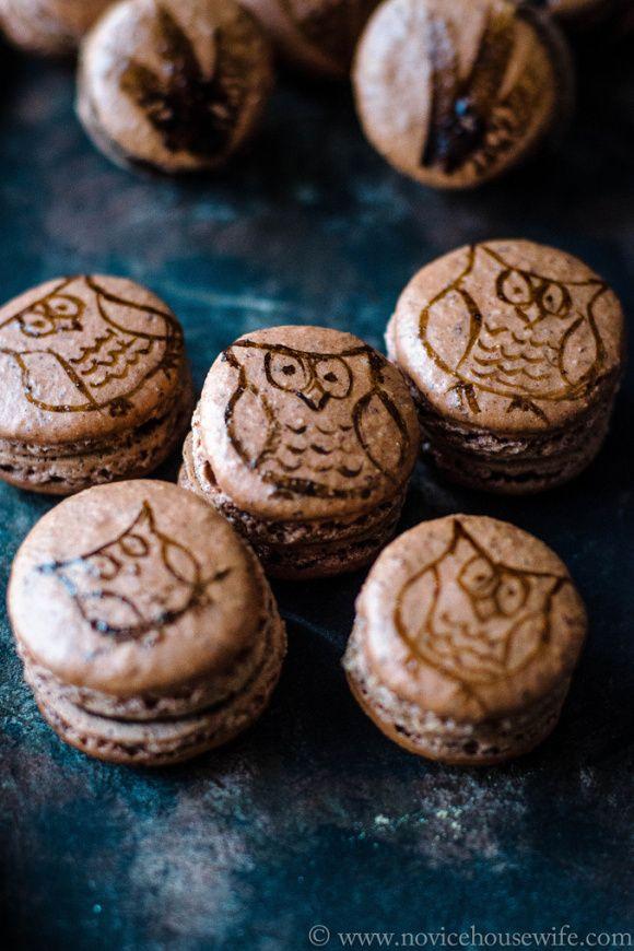 Hazelnut Macarons with Hazelnut Chocolate Ganache   The Novice Housewife