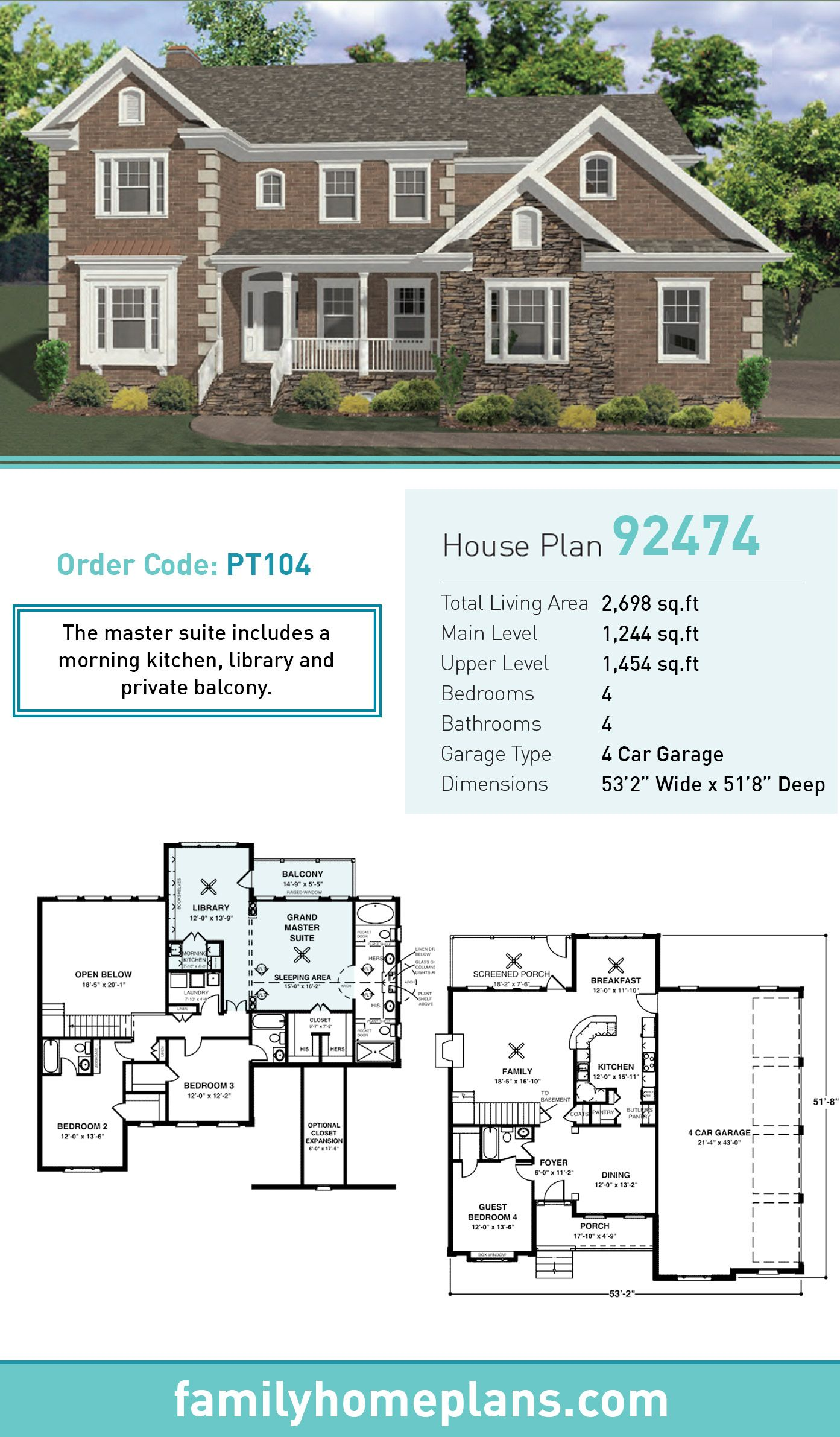Tudor Style House Plan 92474 With 4 Bed 4 Bath 4 Car Garage House Plans Tudor Style Homes Building A House