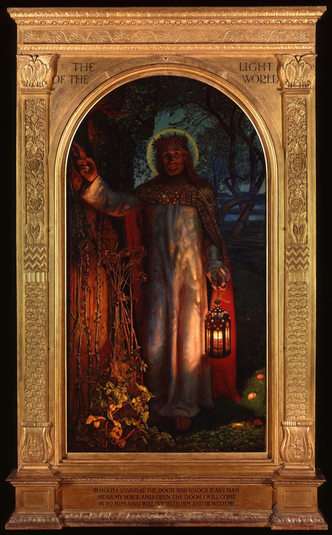 William Holman Hunt The Light Of The World 1904 The Original