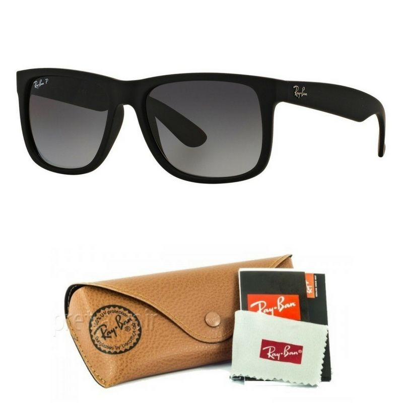 RayBan com  FreteGrátis   Óculos De Sol Justin Rb4165 Polarizado Masculino 6ee0f70102