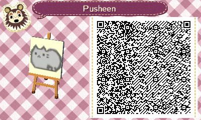Pusheen - Animal Crossing New Leaf QR code - by Hannah