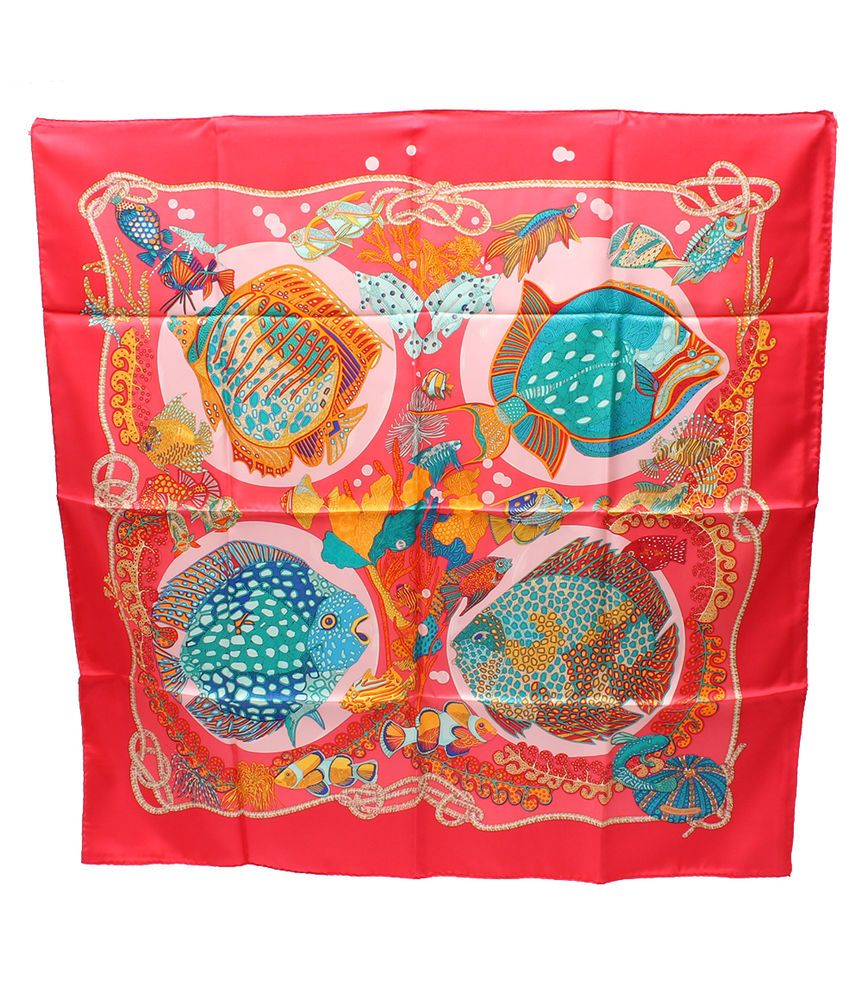 f47080eefcd Hermes Scarf Shawl 100% Silk Carre 90 GRANDS FONDS AUTHENTIC  Hermes ...