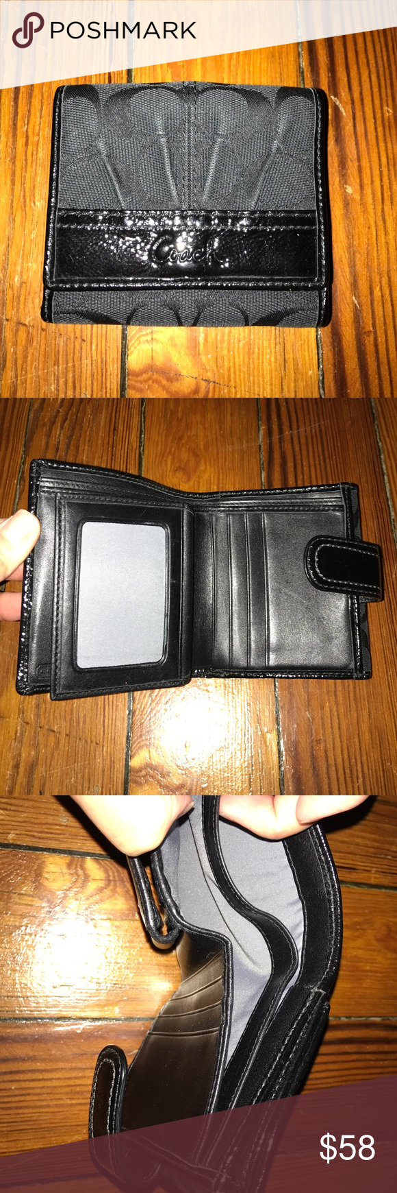 Coach Wallet - Used Coach Wallet - Black w/ credit card and coin slots USED, GREAT CONDITION Coach Bags Wallets