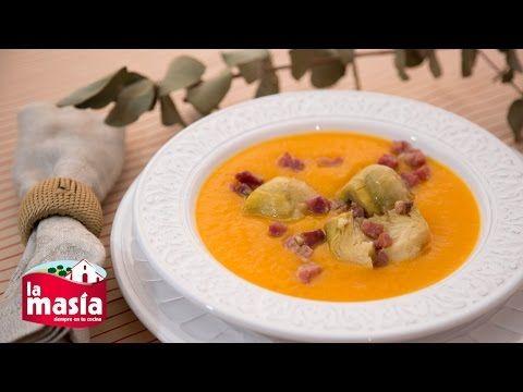 #Crema de #calabaza con #alcachofas y #jamón. Una versión distinta a esta clásica #receta. El paso a paso, en nuestro blog.