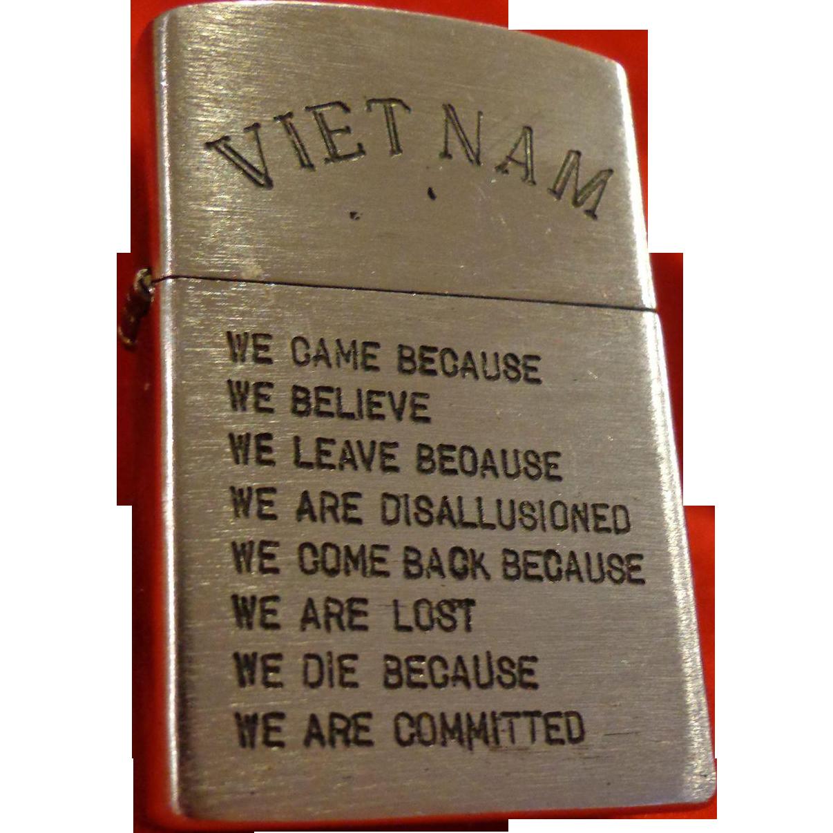 Vintage Vietnam Zippo Lighter Saigon Hanoi In Country Military Army Usmc Infantry Vietnam Zippo Lighter Vietnam War Photos