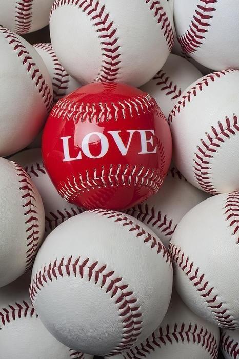 Photo of Love baseball Canvas Print / Canvas Art by Garry Gay