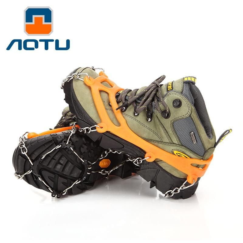 Dilwe Traction Cleats,1 Pair Ice Snow Grips with 4 Spikes for Walking Jogging Hiking Mountaineering