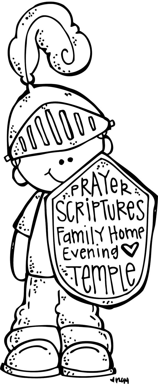 armadura Lds coloring pages