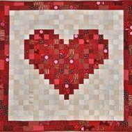 Hand-Made Patchwork Heart Quilt
