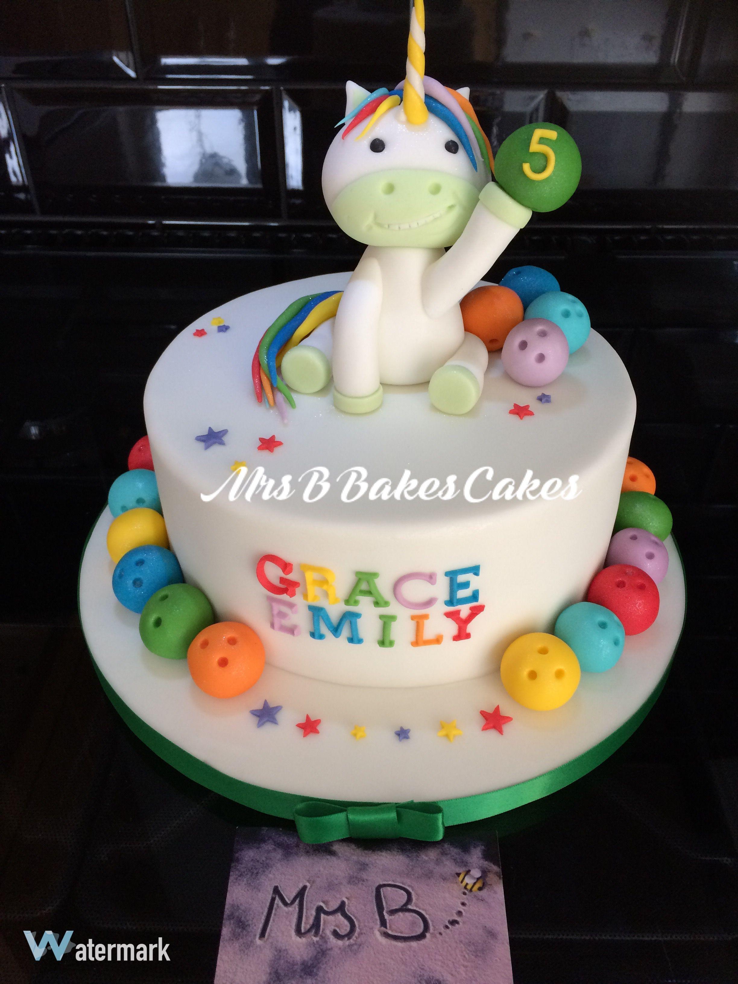 Bowling Birthday Cakes 9th Parties Treats Cake Girls Unicorn