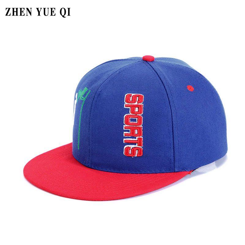 Embroidery Sports Cap for Summer Men Flat Hip Hop Caps Snapback ... 80ed8730e3ad