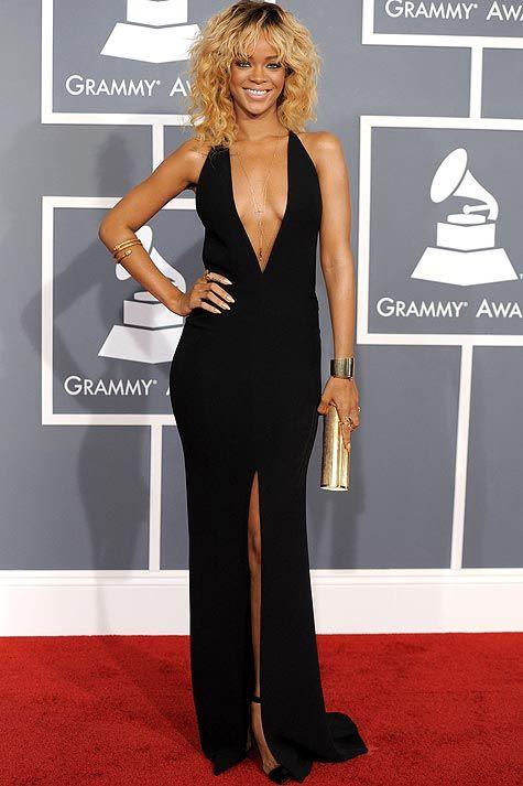 Rihanna Dress by Giorgio Armani Grammy Awards 2012 ...