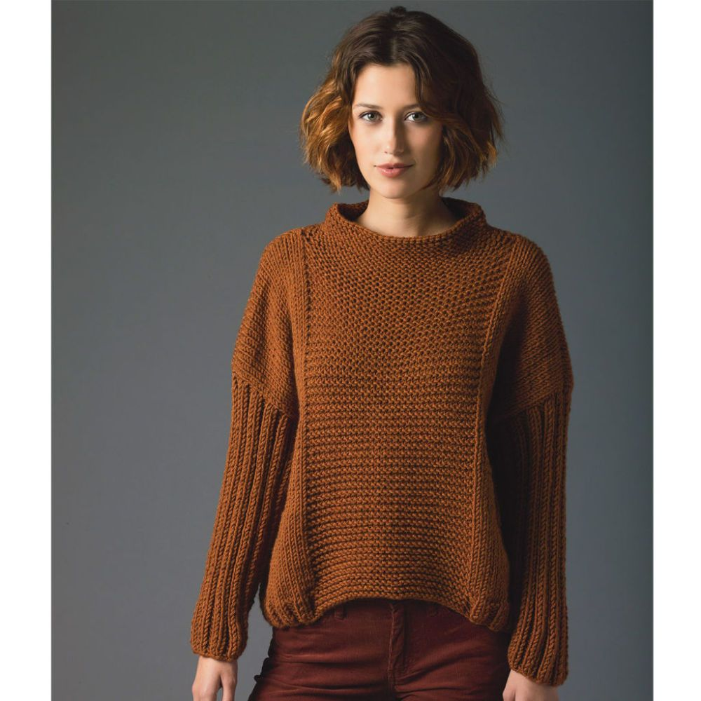 Free knitting pattern lions pride woolspun knit pullover free knitting pattern lions pride woolspun knit pullover sweater with long sleeves level bankloansurffo Choice Image