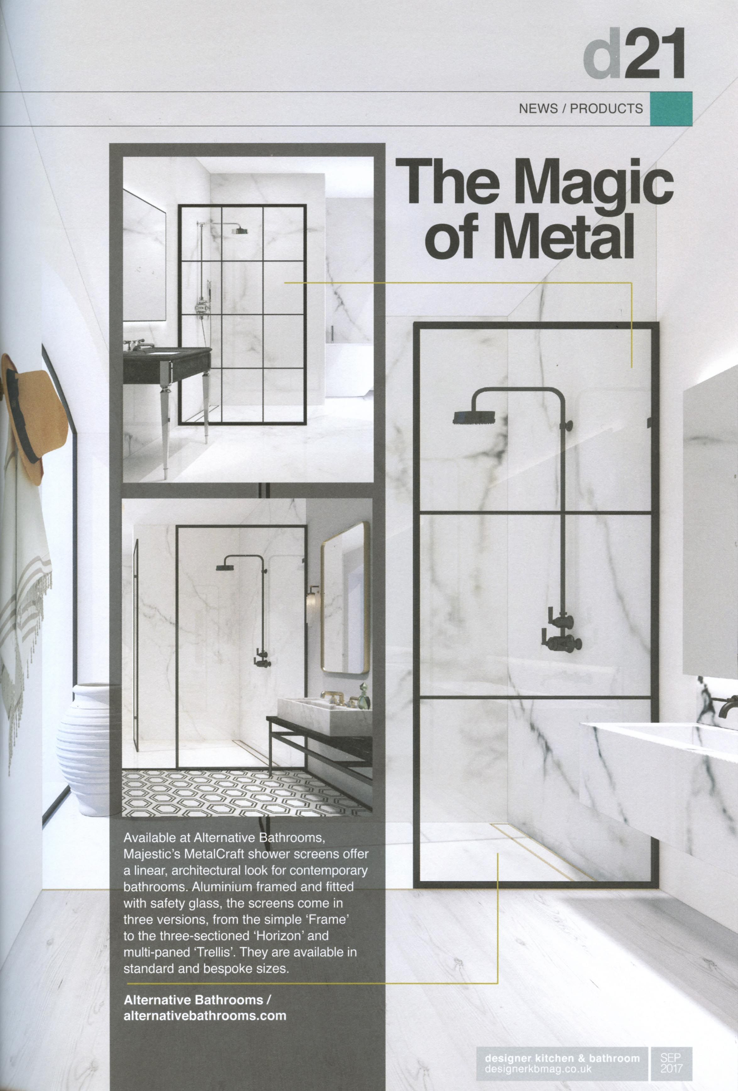This shower screen, available at Alternative Bathrooms, offers a ...