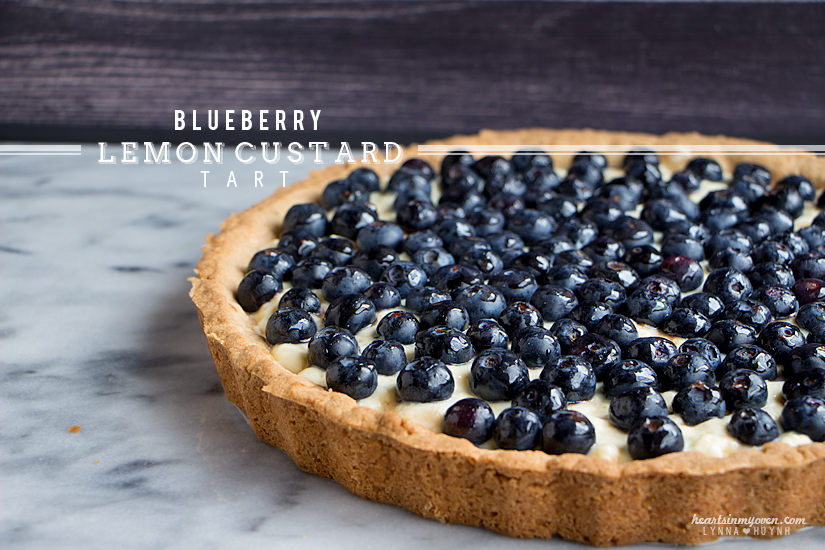 Wild Blueberry Lemon Custard