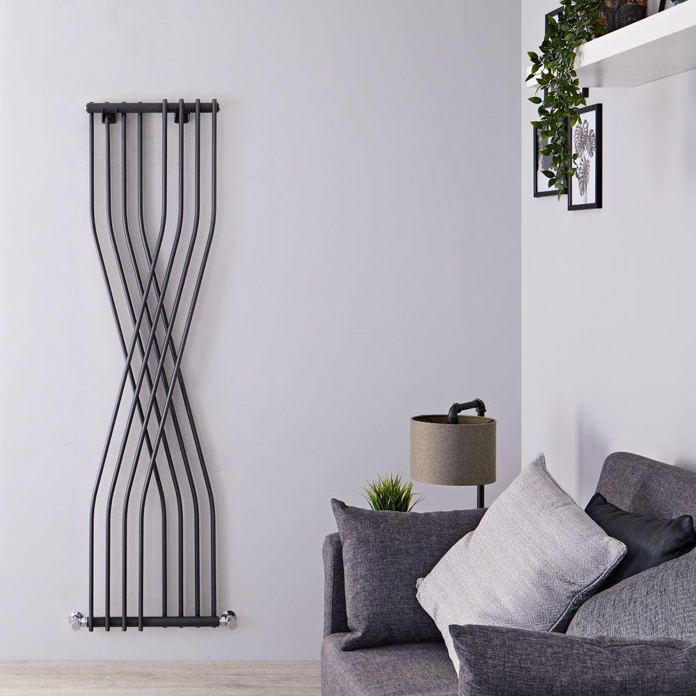 design heizkörper vertikal einlagig anthrazit 1775mm x 450mm