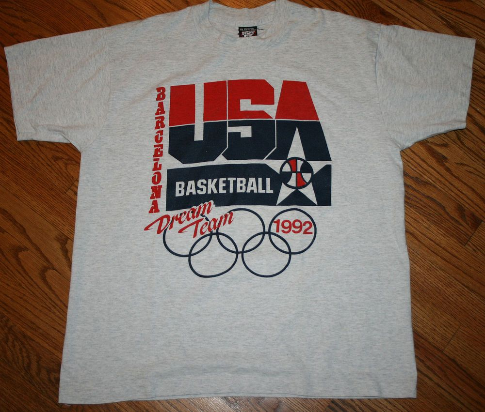 3ef13268930b7f Vintage 1992 USA OLYMPIC DREAM TEAM basketball Screen Stars T-Shirt Men s  XL  ScreenStars  USA