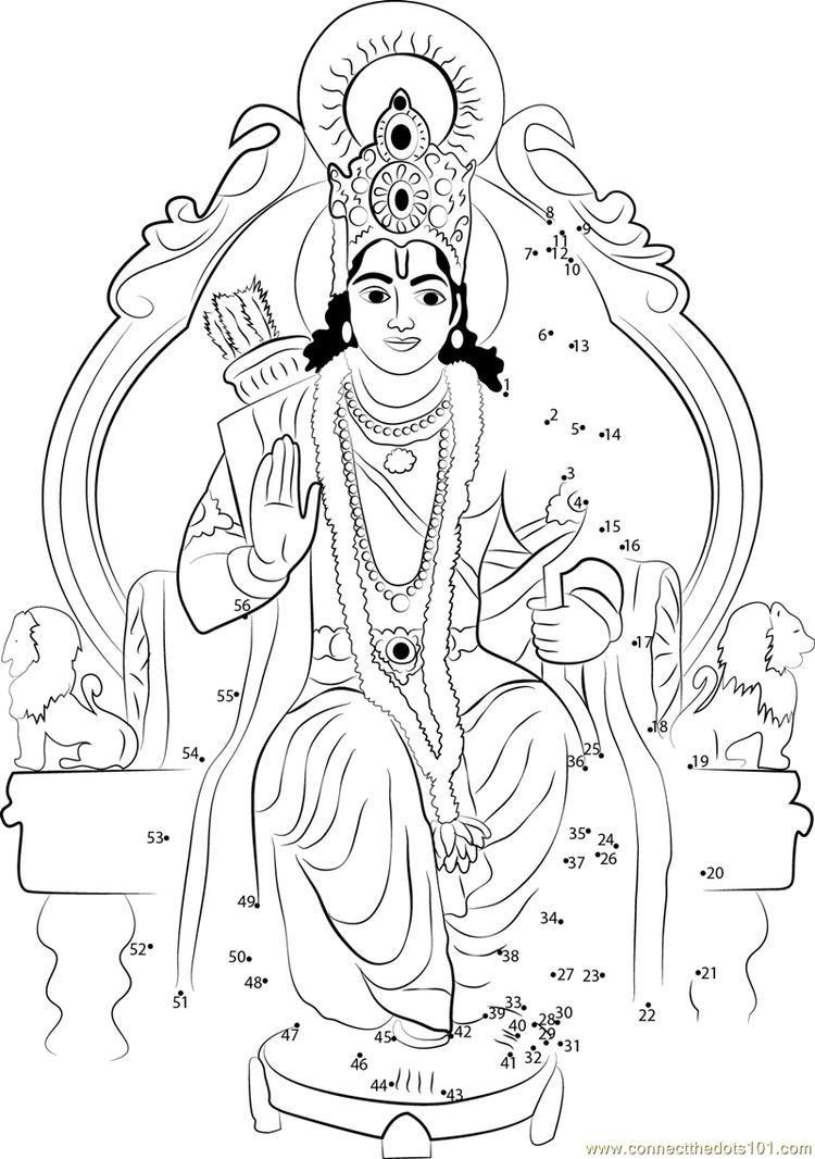 Lord Rama On Singhasan Connect Dots  My little pony coloring