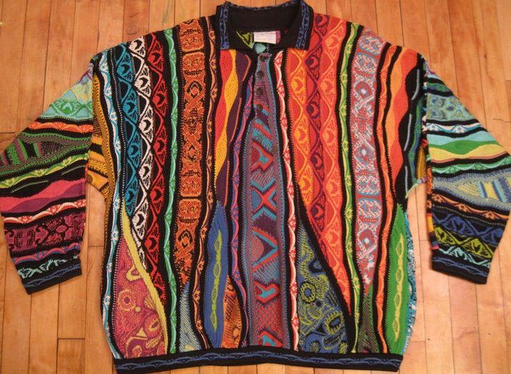 VTG COOGI AUSTRALIA Mercerised Cotton SWEATER sz XXL sweatshirt Biggi…