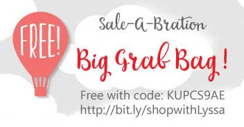 Hey Bargain Hunters! Get a free Grab Bag with your final Sale-A-Bration order