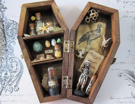 Giles39 Nature Collection Miniature Curio Cabinet