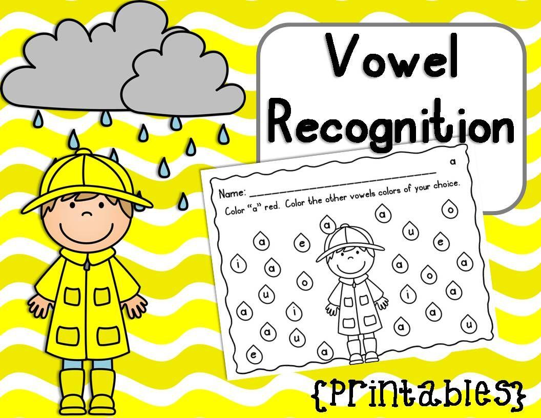 Vowel Recognition Printables Rainy Days