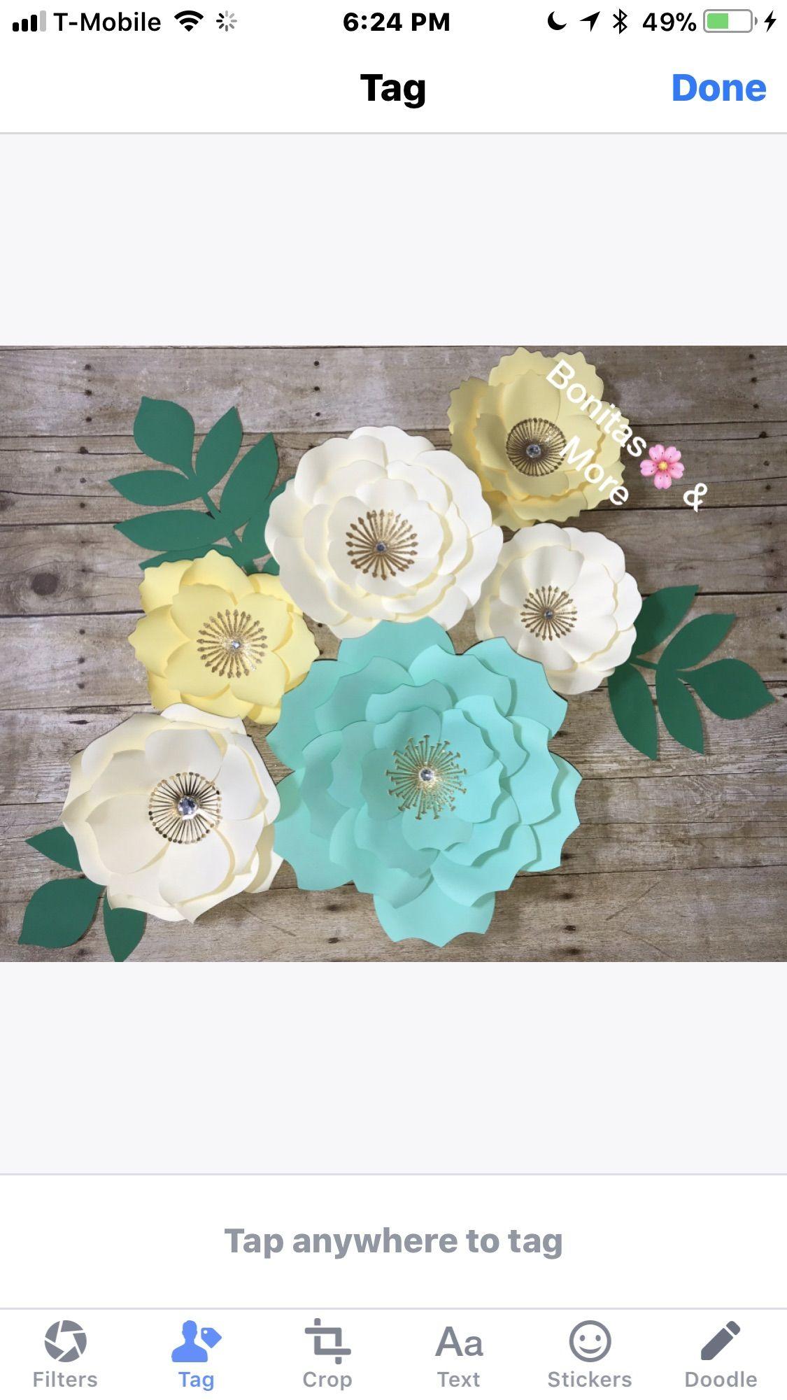 Pin By Bonitas Flowers More On Handmade Paper Flowers Paper