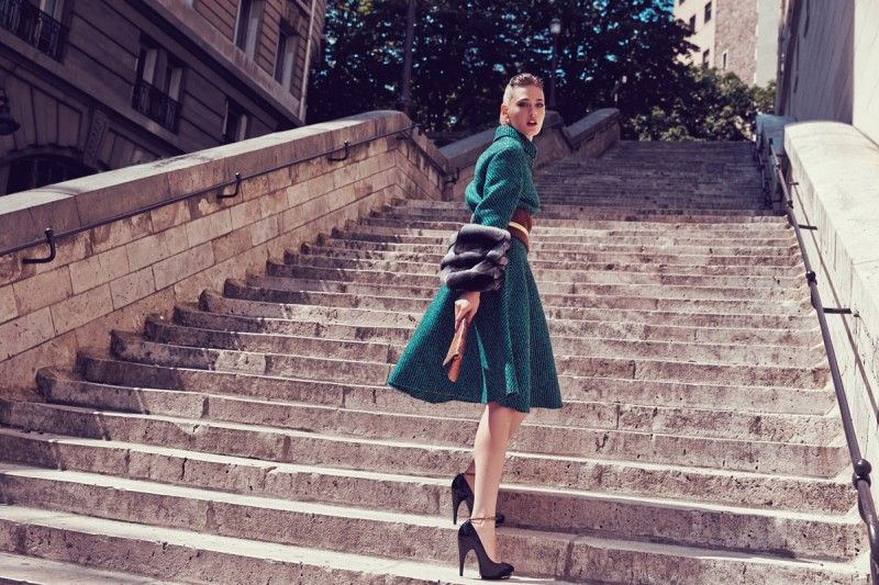 Sarah Emilia is Parisian Chic for Marie Claire China by Dennison Bertram