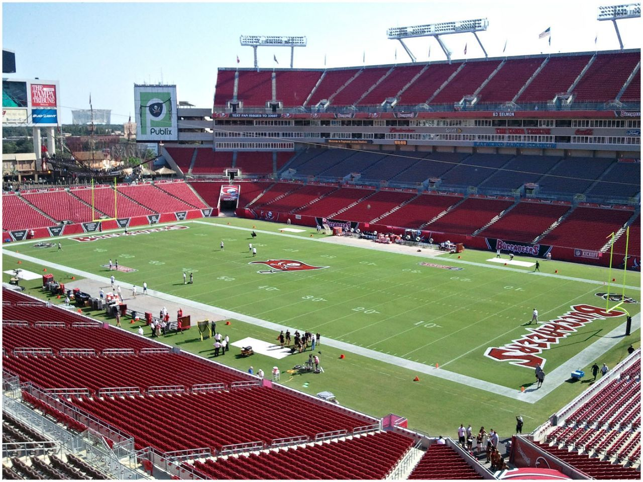 *THE* best stadium in the NFL - Raymond James (Tampa, FL). Nothing beats the pirate ship! Great times, great times!