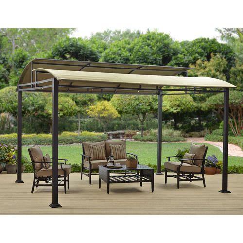 Outdoor Gazebo Patio Canopy Garden Modern Heavy Duty Yard Deck Steel Frame Tent Homesandgardens