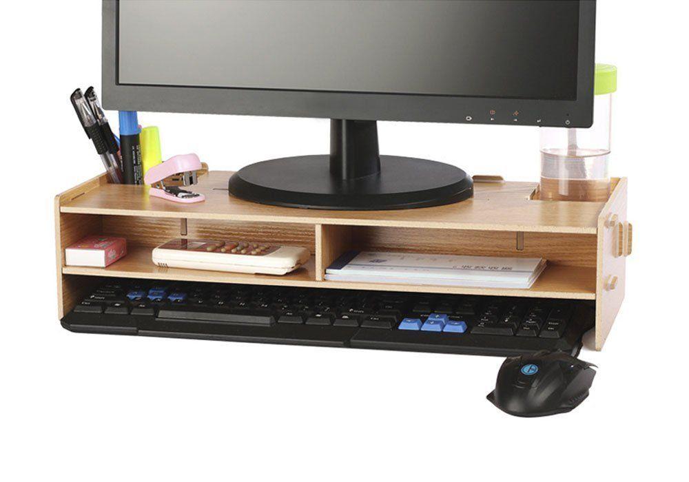 Crayfomo Wood Monitor Stand Support Pour Moniteur Pour Pc Imacs Macbook Et Ordinateur Portable Imprim Support Ecran Ordinateur Support Ecran Pc Support Ecran
