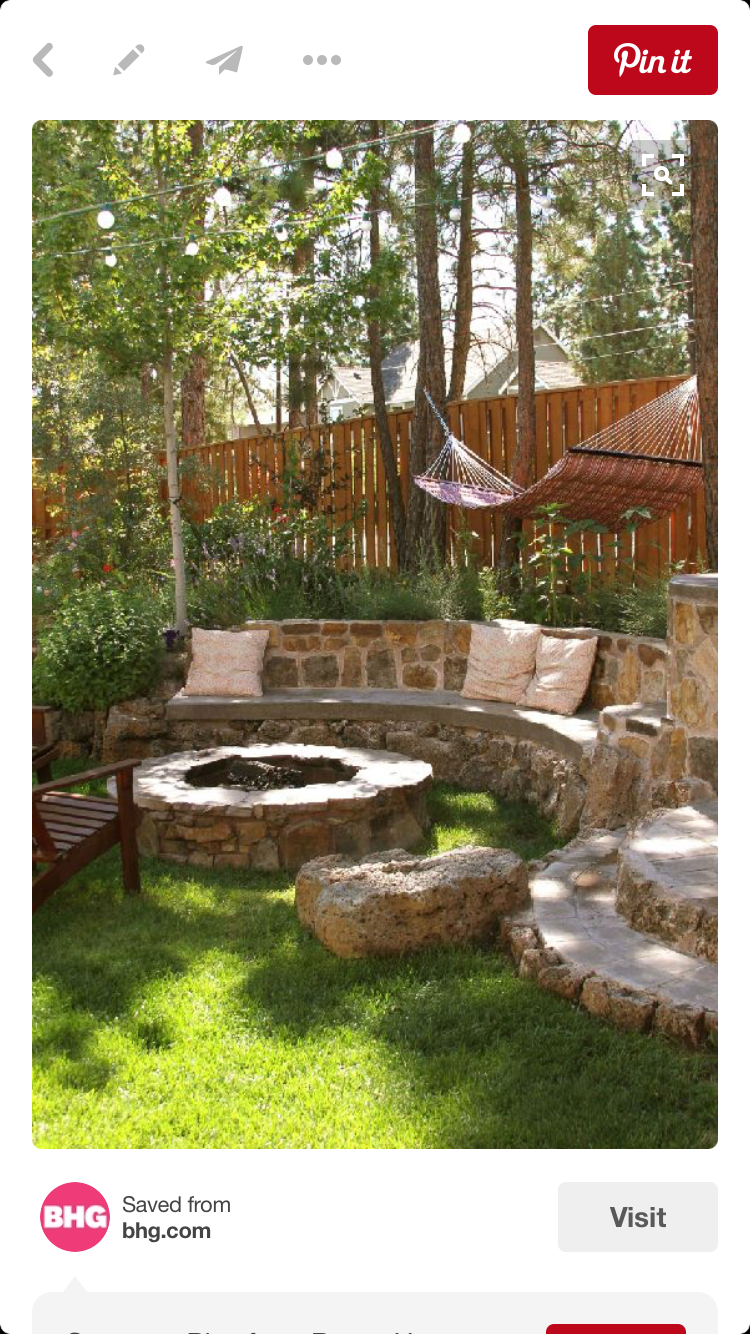 Pin von lori johnson auf for the home pinterest garten - Grillstelle garten ...