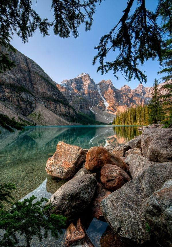 Moraine Lake, Rocky Mountains, Banff National Park, Alberta, Canada. WANT TO GO!