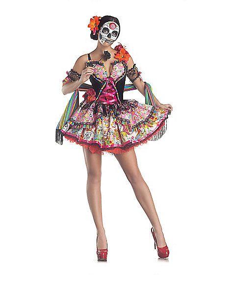 adult day of the dead dress costume spirithalloweencom